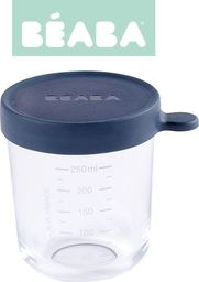 Beaba Pojemnik słoiczek szklany z hermetycznym zamknięciem 250 ml dark blue (3384349126520)