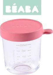 Beaba Pojemnik szklany hermetyczny dark pink 250ml