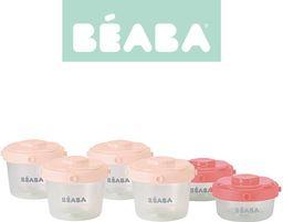 Beaba Pojemnik hermetyczny Clip różowy 6 szt. 60 i 120 ml