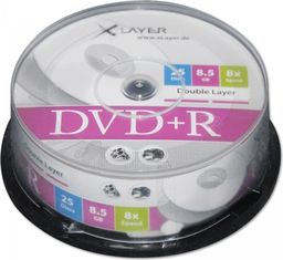 Xlayer DVD+R 8.5GB 8x 25szt. (104814)