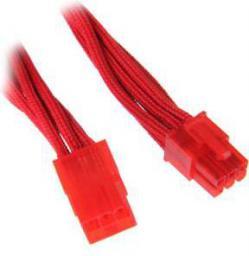 BitFenix Przedłużacz 6-pin, 45cm opływowy, czerwony BFA-MSC-6PEG45RR-RP