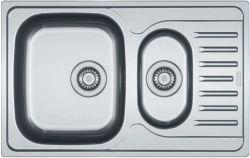 Franke Zlewozmywak 1,5-komorowy PXN 651 z ociekaczem 78 x 49cm stalowy (101.0251.314)