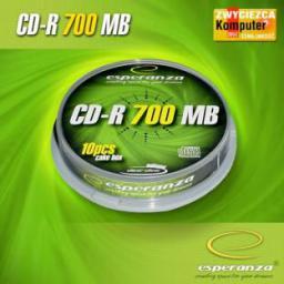 Esperanza CD-R/10/Cake 700MB 56x Srebrne
