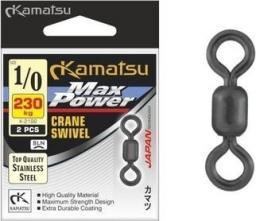 Kamatsu Krętlik Max Power Swivel r. 1/0 230kg 2 szt. (555119100)