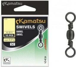 Kamatsu Krętlik Barrel Swivels 18 10szt.