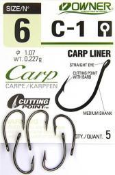 Owner Haczyki C1 Carp Straight r. 6 5szt.