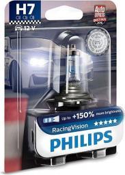 Philips Żarówka Halogenowa H7 RacingVision +150% 12V/55W - 1 sztuka