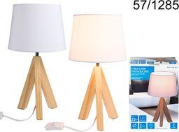 Lampa stołowa Kemis drewniana  (090,57-1285)