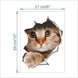 Kemis Naklejka kot 3D XL - 29 x 21 cm