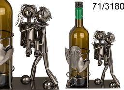 Kemis Metalowy stojak na wino - zakochana para III
