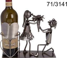 Kemis Metalowy stojak na wino - zakochana para II