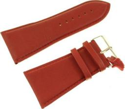 Diloy Pasek do zegarka skórzany czerwony 40 mm (302EA.40.4)