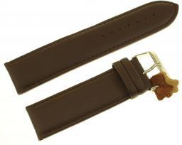 Diloy Pasek do zegarka skórzany czarny 26 mm (302EAL.26.2)