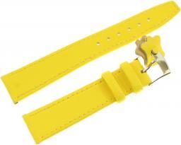 Diloy Pasek do zegarka skórzany żółty 18 mm (366.18.10)