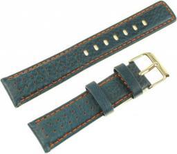 Diloy Pasek do zegarka skórzany zielono-pomarańczowy 20 mm (367.20.5)