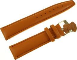 Diloy Pasek do zegarka skórzany brązowy 20 mm (777.20.3)