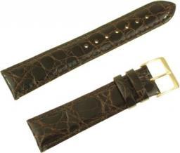 Diloy Pasek do zegarka Krokodyl skórzany zielony 20 mm (P332.20.2)