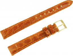 Diloy Pasek do zegarka Krokodyl skórzany brązowy 14 mm (P332.14.3)
