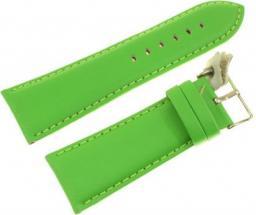 Diloy Pasek do zegarka skórzany zielony 28 mm (302EA.28.11)