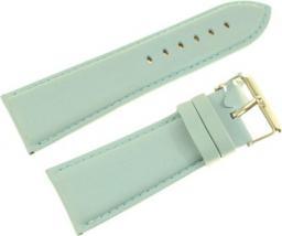 Diloy Pasek do zegarka skórzany błękitny 28 mm (302EA.28.19)