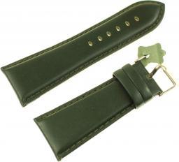 Diloy Pasek do zegarka skórzany zielony 30 mm (302EA.30.11)