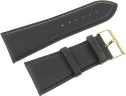 Diloy Pasek do zegarka skórzany czarny 34 mm (302EA.34.5)