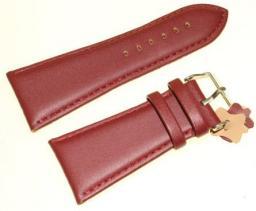 Diloy Pasek do zegarka skórzany bordowy 34 mm (302EA.34.4)