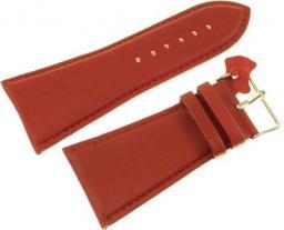 Diloy Pasek do zegarka skórzany czerwony 38 mm (302EA.38.4)