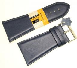 Diloy Pasek do zegarka skórzany czarny 40 mm (302EA.40.5)