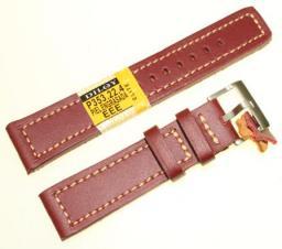 Diloy Pasek do zegarka skórzany brązowy 22 mm (P353.22.4)