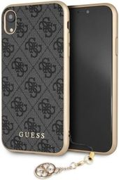 Guess Guess GUHCI61GF4GGR iPhone Xr grey /szary hard case 4G Charms Collection