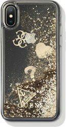 Guess Guess GUHCI8LGLHFLGO iPhone 7/8 Plus gold/złoty hard case Glitter Hearts