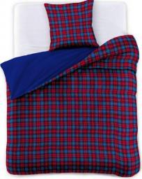 Decoking Pościel Lumberjack niebiesko-czerwona  135X200cm + poduszka 80X80cm