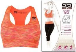 GATTA Biustonosz Active Sport Bra Fitness Orange melange r. M