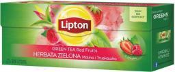 Lipton Green Tea herbata zielona Malina i Truskawka 25 torebek