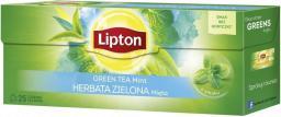 Lipton Green Tea herbata zielona Mięta 25 torebek