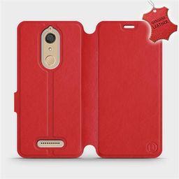 Mobiwear Etui ze skóry naturalnej do Wiko View - wzór Red Leather