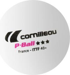 Cornilleau Piłeczki P-Ball ITTF białe 3 szt.
