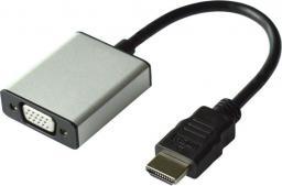 Kabel Value HDMI USB Micro B MiniJack 3.5 mm D-Sub (VGA), 0.15, Srebrny