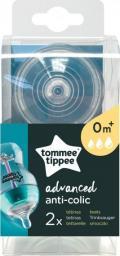 Tommee Tippee Smoczek antykolkowy Advanced 0m+ wieloprzepływowy 2 szt. (421122651)
