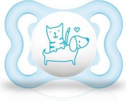 MAM Air smoczek niebieski z psem 2-6M+ (MAM098)