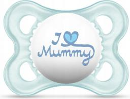 MAM Love&Affection smoczek I love Mummy niebieski 2-6M (MAM151)