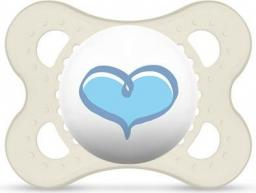 MAM Love&Affection smoczek niebieskie serce przezroczysty 2-6M (MAM152)
