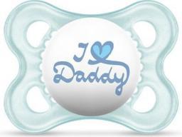 MAM Love&Affection smoczek I love Daddy niebieski 2-6M (MAM150)
