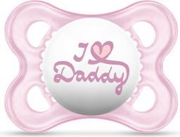 MAM Love&Affection smoczek I love Daddy różowy 2-6M (MAM154)
