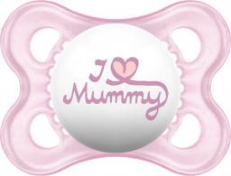 MAM Love&Affection smoczek I love Mummy różowy 2-6M (MAM155)