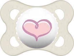 MAM Love&Affection smoczek różowe serce przezroczysty 2-6M (MAM153)