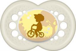 MAM Original Smoczek chłopiec na rowerze przezroczysty 16M+ (MAM109)