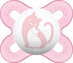 MAM Smoczek 0-2m Różowy Z Kotkiem