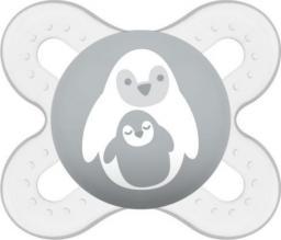 MAM  Smoczek 0-2m Szary Z Pingwinem
